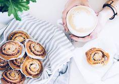 Hello Monday! ☕🍩 | pastry & coffee flatlay