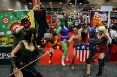 Fight! #SDCC #superheroes #cosplay #actingup