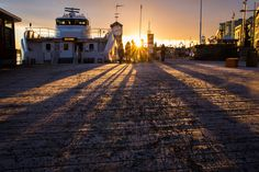 Low sun at Aker Brygge, Oslo www.oslo360.no