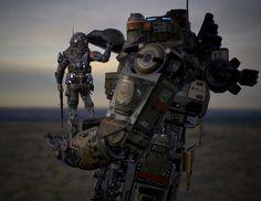 rhubarbes:  ArtStation - Titanfall - Atlas, by chang-gon shinMore robots here.