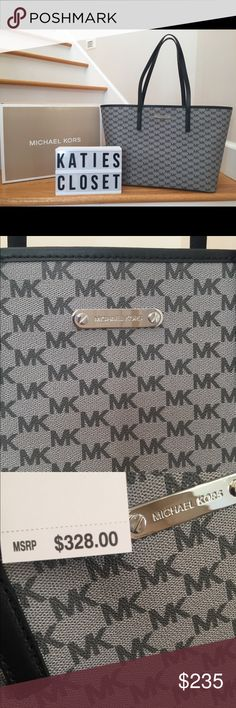 NWT MICHAEL KORS LARGE SHOULDER BAG! NWT MICHAEL KORS LARGE SHOULDER BAG!  Black, grey, & silver! Michael Kors Bags Shoulder Bags