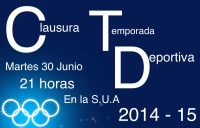 La S.U.A acoge mañana martes la Clausura deportiva de la temporada 2014-15