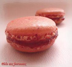 Philo aux fourneaux: Macarons fourrés à la fraise
