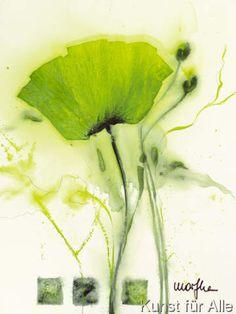 Marthe - Coquelicot vert I