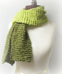 Shades of Olive Knit Scarf by Oaklies Fashions