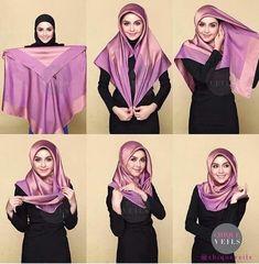 The latest hijab hijab tutorials provide complete instructions . - - The latest hijab hijab tutorials provide complete instructions . Square Hijab Tutorial, Simple Hijab Tutorial, Hijab Simple, Hijab Style Tutorial, Scarf Tutorial, Turkish Hijab Tutorial, Tutorial Hijab Segi 4, Turban Hijab, Hijab Dress