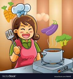 Buy Mommy Love Cooking by on GraphicRiver. cartoon illustration of mommy is cooking for dish Dracula Cartoon, Free Vector Images, Vector Free, Cartoon Mom, Castle Vector, Funny Frogs, Mascot Design, Carnival Themes, Summer Boy