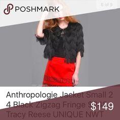 Anthrpologie Zigzag Fringe Jacket NWT Anthropologie Jackets & Coats