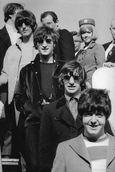 * The Beatles! * Paul McCartney, Richard Starkey, John Lennon, and George Harrison.