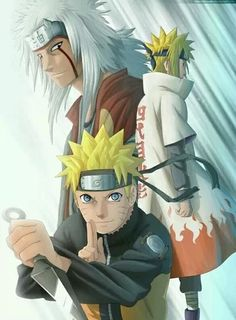 Naruto, Minato and Jiraya :D