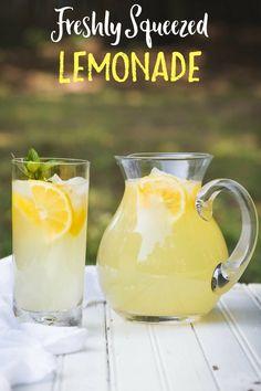 Real Lemonade made from scratch with fresh lemons, you won't taste better!! www.noshtastic.com #lemonade #lemonaderecipe #lemons #summerdrinks #beverage #freshlemonade #glutenfree #dairyfree #noshtastic