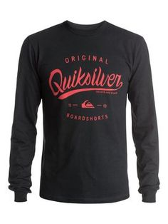quiksilver, Home Run Long Sleeve T-Shirt, Anthracite (kvj0)