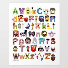 Just got this for my daughter's room! Sesame Street Alphabet Art Print