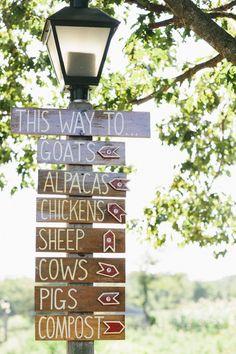 Queens County Farm Museum Wedding from Justine Bursoni Photography - Wegweiser; Future Farms, Funny Farm, Mini Farm, Farm Signs, Down On The Farm, Life On The Farm, Farms Living, Living On A Farm, Museum Wedding