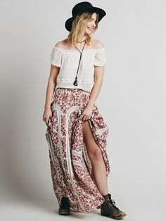 Free People FP ONE Zoe Maxi Skirt at Free People Clothing Boutique