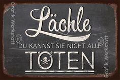 Lächle - Blechschilder - Grafik Werkstatt Bielefeld