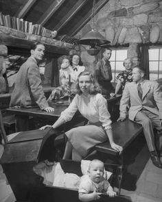 Robinson Jeffers and his family in Tor House, Carmel - 1948. Photo: Nat Farbman