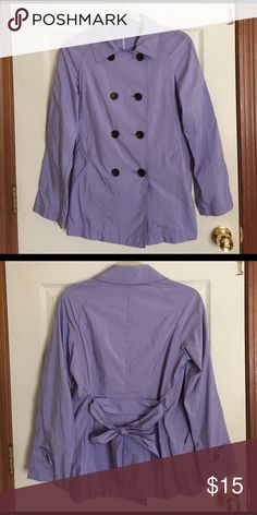 "UNIQLO Double Breasted Raincoat 🌸 UNIQLO Double Breasted Raincoat in Lavender 🌸 A lightweight, lovely, and stylish raincoat just in time for spring! 🌸 Condition: Excellent 🌸 Coat size M but fits XS-S frames 🌸 89% polyester 11% nylon 🌸 Length: 29"" / Chest: 36"" 🌸 Uniqlo Jackets & Coats Utility Jackets"