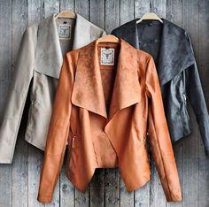 New Women PU Leather Jacket Motorcycle Biker Slim Fit Zipper Blazer Coat Top Outwear