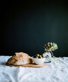 bread and olives | Cindy Loughridge Photography