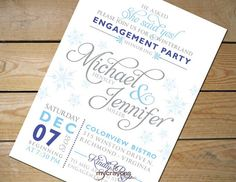 Winter Wonderland Engagement Party by MyCrayonsPapeterie on Etsy, $22.50