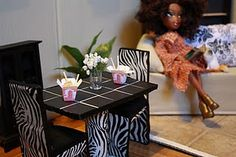 how-to's on doll : hair, pillows, table and chairs