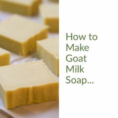 A simple step-by-step picture tutorial on how to make goat milk soap. From beginning to end, everything you need to know to make milk soap at home. soap goat milk How to Make Goat Milk Soap Handmade Soap Recipes, Soap Making Recipes, Goat Milk Recipes, Savon Soap, Shea Butter Soap, Goat Milk Soap, Home Made Soap, Blog, Natural Soaps