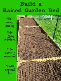 Build a raised garden bed for around $12. Detailed Instructions | PreparednessMama