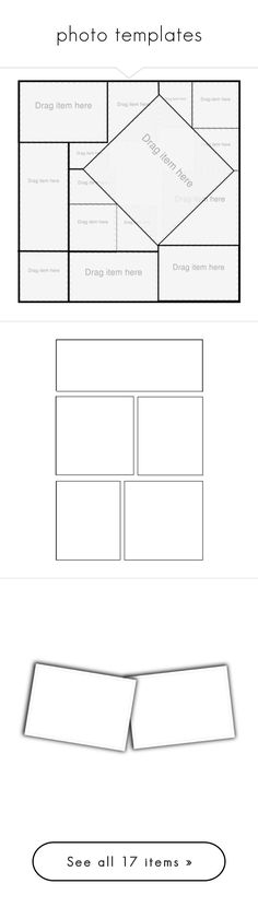 """""""photo templates"""" by loves-elephants ❤ liked on Polyvore featuring templates, frames, backgrounds, borders, png, picture frame, fillers, picture frames, outlines and embellishment"""