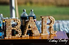 BAR sign out of corks!