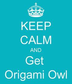 Keep Calm....    Origami Owl
