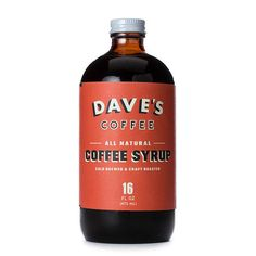 Coffee Syrup (All Natural) | Red Rolling Pin