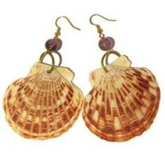 seashell crafts | Scallop - shell earrings | Seashell Crafts