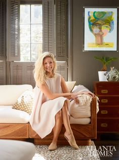 Sally King Benedict, Artist   Photographed by David Christensen // Atlanta Homes & Lifestyles