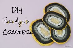 City of Creative Dream - City of Links #65 features diy faux agate coasters! http://cityofcreativedreams.blogspot.ca/2015/04/city-of-links-65.html