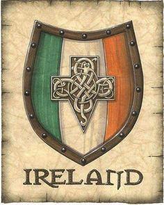 Ireland Crest Artwork Irish Coat Of Arms Celtic by GeographicsArt