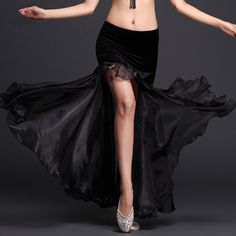 125625c35 black belly dance skirt Picture - More Detailed Picture about 2017 New  Belly Dancing Clothes Professional Long Fish Tail Skirts Side Split Women  Wrapped ...