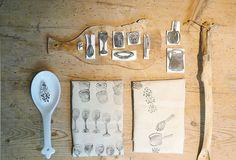 Servetten stempelen - Napkins stamping Kijk op www.101woonideeen.nl #tutorial #howto #diy #101woonideeen #servetten #stempelen #napkins #stamping