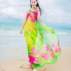 ef5c6e3335bcd Scarves Beach Cover up Pareo Hibiscus Print Chiffon Sexy Women Sarongs Swim  Bikini Cover Up Wraps
