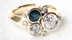 Custom Family Heirloom engagement rings by Nested Yellow