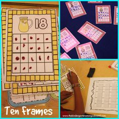 Ten Frame cards are great for practicing one to one counting to 20!