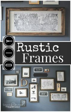 DIY rustic Frames Sawdust 2 stitches for Remodelaholic.com