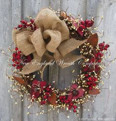 Add some small lights to this beautiful wreath and it would really pop.