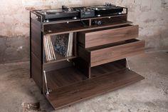 Studio Rik ten Velden's Selectors Cabinet combines vinyl storage with a home DJ booth