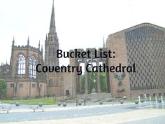 Coventry Cathedral is a breathtaking example of old & new, ruined & rebuilt.