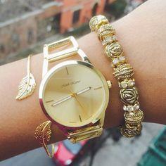 jewels ishopcandy.com gold watch classic armcandy