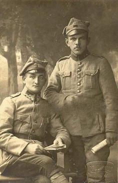WWI, Polish soldiers, Haller's Army or Blue Army, Polish military contingent created in France.