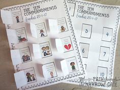 This free printable Ten Commandments Craft is a great way to introduce kids to God's Ten Commandments - Easy to make and perfect for home or Sunday School. Sunday School Crafts For Kids, Bible School Crafts, Sunday School Activities, Sunday School Lessons, Bible Activities For Kids, Bible Crafts For Kids, Church Activities, Group Activities, 10 Commandments Kids