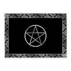 Pentagram Round Carpet Magic Circle Thin Mat Rug O