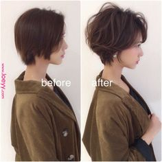 60 Classy Short Haircuts and Hairstyles for Thick Hair Haircuts For Wavy Hair, Haircut For Thick Hair, Undercut Hairstyles, Straight Hairstyles, Short Cropped Hair, Short Straight Hair, Short Hair Cuts, Short Hair Syles, Curly Hair Styles